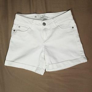 CELEBRITY PINK White Denim Shorts